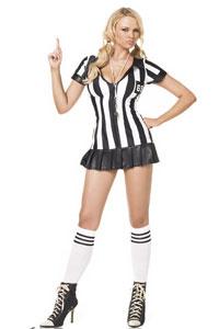 Costume arbitre noir et blanc
