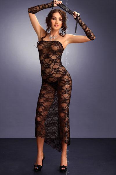 robe longue dentelle transparente